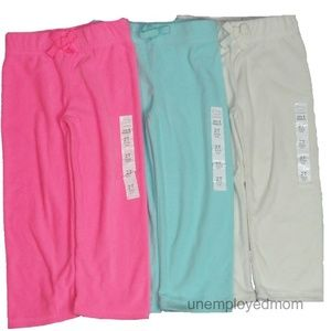 Fleece Pants 2T Girls Long Pants Lot of 3